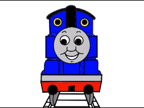 How to Draw Thomas the Tank Engine - YouTube