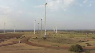 WIND POWER GENERATION IN NAGDA MP INDIA..