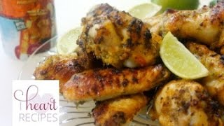 Baked Cilantro Lime Chicken Wings Recipe - Super Bowl Recipe - I Heart Recipes