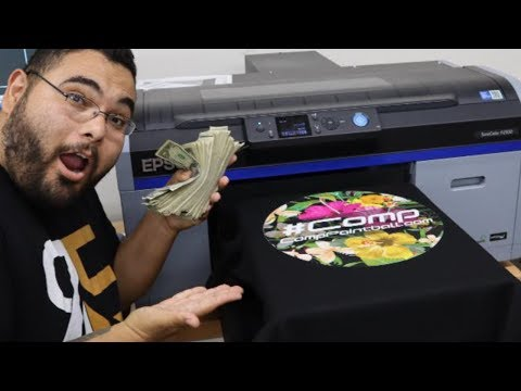 Will this $18,000 DTG Printer take over the T-Shirt printing business??