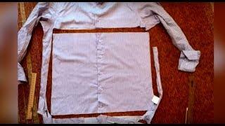 видео урок.Осенняя подушка из ненужной рубашки.Уютный декор своими руками.