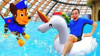 Зима в аквапарке - Оптимус Прайм и Барби - шоу Акватим
