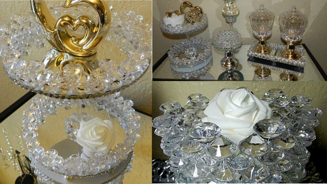 Elegant Home Decor Accessories: Dollar Tree DIY Elegant Bathroom/Vanity Display