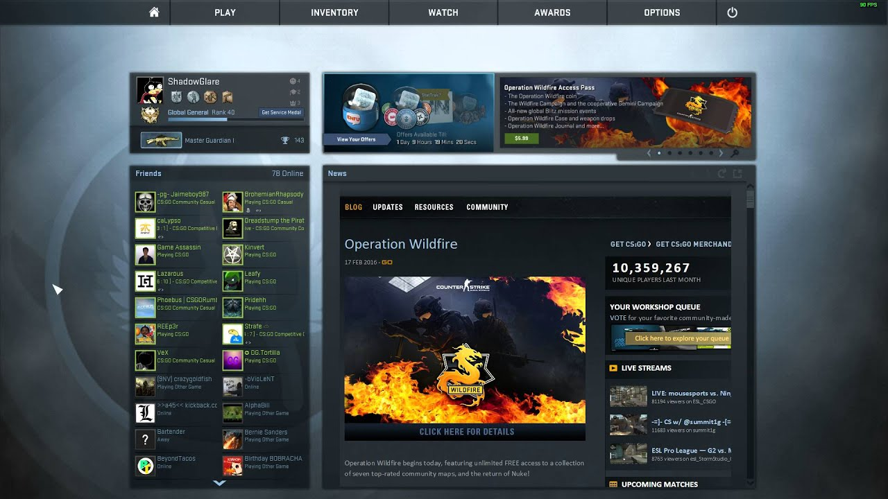 Image result for csgo main menu