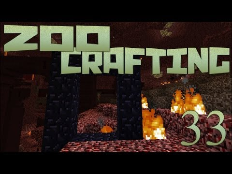 Trapped in the Nether!! 🐘 Zoo Crafting: Episode #33