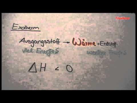 Exo/Endotherme Reaktionen +