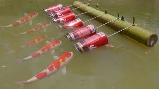 Wow! New Idea Of Easy Life Hacks fish Trap Using With 6 Coca Cola & 6 Hooks