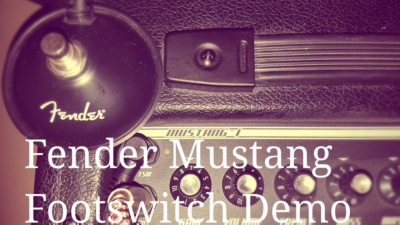 fender mustang 1 v2 footswitch demo a straightforward a b pedal that you need to own youtube. Black Bedroom Furniture Sets. Home Design Ideas
