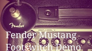 Fender Mustang 1 V2 footswitch demo - a straightforward A-B pedal that you need to own