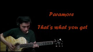 Paramore - That's what you get ( Acoustic Karaoke )