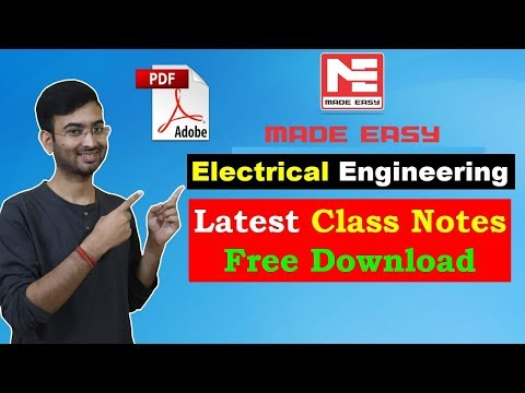Download Electrical Engineering  Made Easy Free PDF Handwritten Notes For GATE, IES, PSC