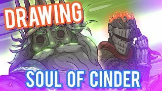 Drawing Soul of Cinder (DORK SOULS 3) -With Commentary-