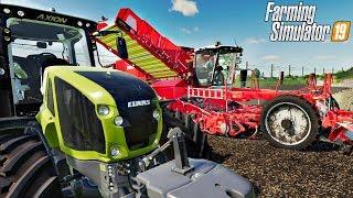 Kombajn do ziemniaków.  SEASONS  #107 Felsbrunn ☆ Farming Simulator 19  ☆ ㋡ Anton