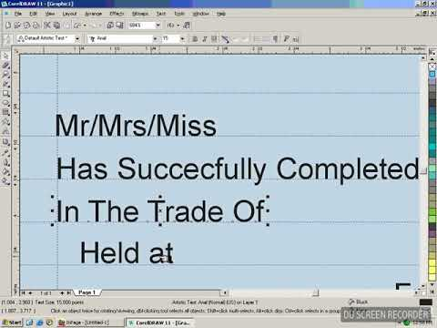How to make a certificate in corel draw