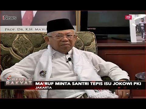 Ma'ruf Amin Tepis Isu Jokowi Antek PKI, Minta Santri Menangkal Berita Bohong - Pemilu Rakyat 11/12 Mp3