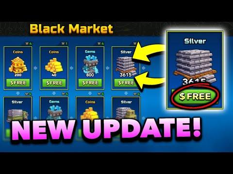 NEW BLACK MARKET FOR COINS/GEMS/SILVER!!   Pixel Gun 3D - New Update 17.6.0 [Review]