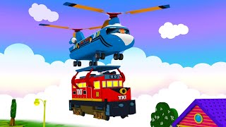 Lets Help - Toy Factory Cargo Track City Cartoon for Children - Trains