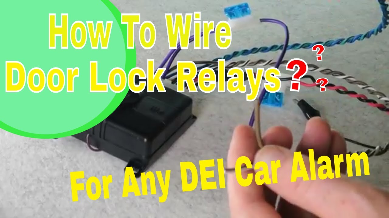 medium resolution of wiring how to on dei viper 451m type internal door lock relay systems