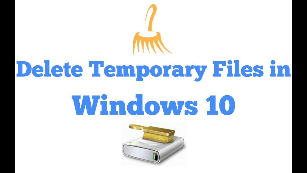 how to delete temporary files in windows 10 youtube. Black Bedroom Furniture Sets. Home Design Ideas