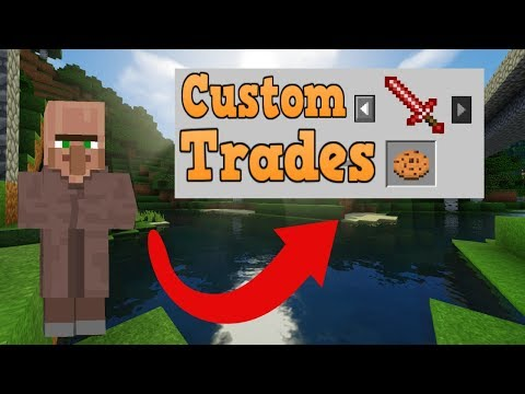 How To Mod Custom Villager Trades Minecraft Bedrock Edition