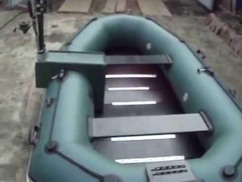 Тюнинг лодки ПВХ  BARK-289 NP(столик под удочки и сплошной настил на днище)