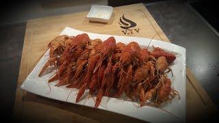 Flusskrebse richtig kochen und essen !!!