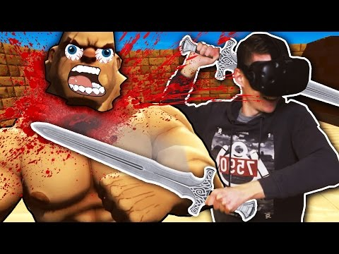 BECOME A MIGHTY GLADIATOR IN VIRTUAL REALITY! (Gorn VR - HTC Vive Gameplay)