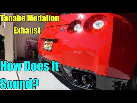 Tanabe Medalion Exhaust on a 2013 Nissan GTR