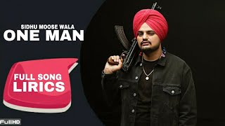 One Man Sidhu Moose Wala Free MP3 Song Download 320 Kbps
