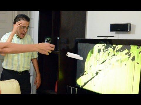 Rompimos la TV con el control del Wii   LOS POLINESIOS BROMAS PLATICA POLINESIA