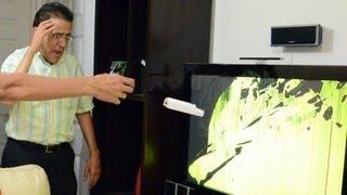 Rompimos la TV con el control del Wii | Videos de risa, bromas graciosas, accidentes con el wii