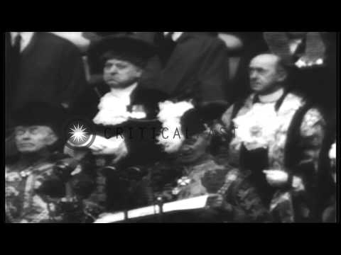 Proclamation of accession of Princess Elizabeth Alexandra Mary as Queen Elizabeth...HD Stock Footage
