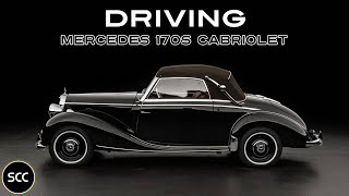 MERCEDES-BENZ W136 170s Cabriolet 1950 - Modest test drive - Engine sound | SCC TV