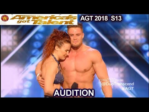 Duo Transcend Aerial Duo Husband & Wife & Judges Comments America's Got Talent 2018 Audition AGT