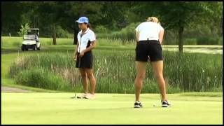 Kiera Smith from Heritage Christian Academy in Maple Grove battles for State Golf honors