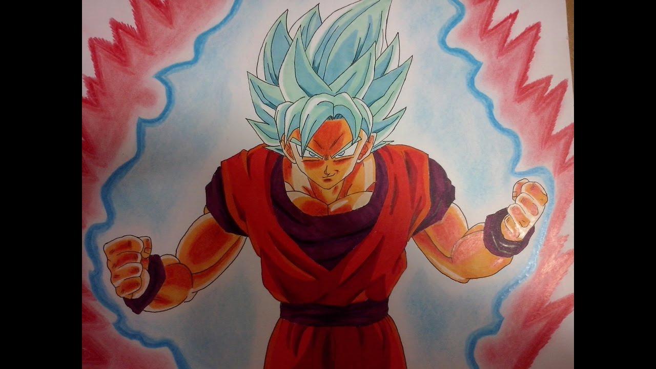 Dibujos Para Colorear De Goku Fase Dios: Imagenes De Goku Fase Dios Azul Kaioken Para Colorear