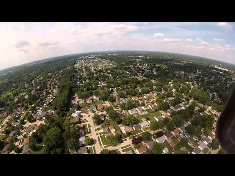 Drone fly over Westland Michigan