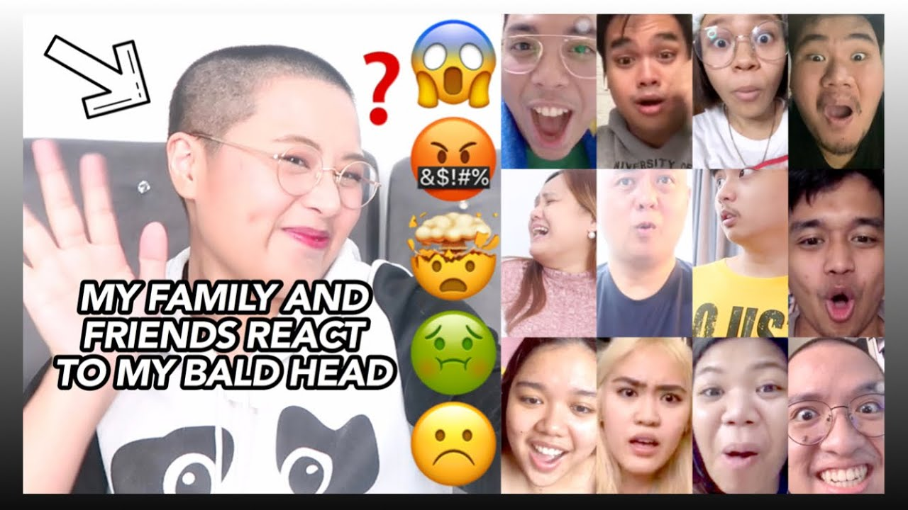 MY FAMILY AND FRIENDS REACT TO MY SHAVED BALD HEAD (PINAGALITAN BA AKO??? 🤔😭😱) | Eunice Santiago