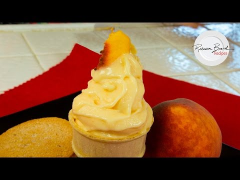 How To Make Soft Serve Peach Ice Cream In 15 Minutes - BEST RECIPE
