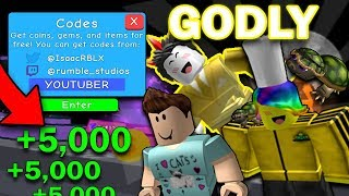 *LATEST* GODLY YOUTUBER CODES IN Bubble Gum Simulator 2018 *TOFUU* *DENIS* (Roblox)