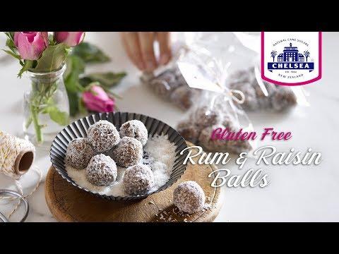 Gluten Free Rum and Raisin Balls I Chelsea Sugar