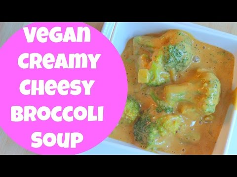 Vegan Creamy Cheezy Broccoli Soup | By: What Chelsea Eats