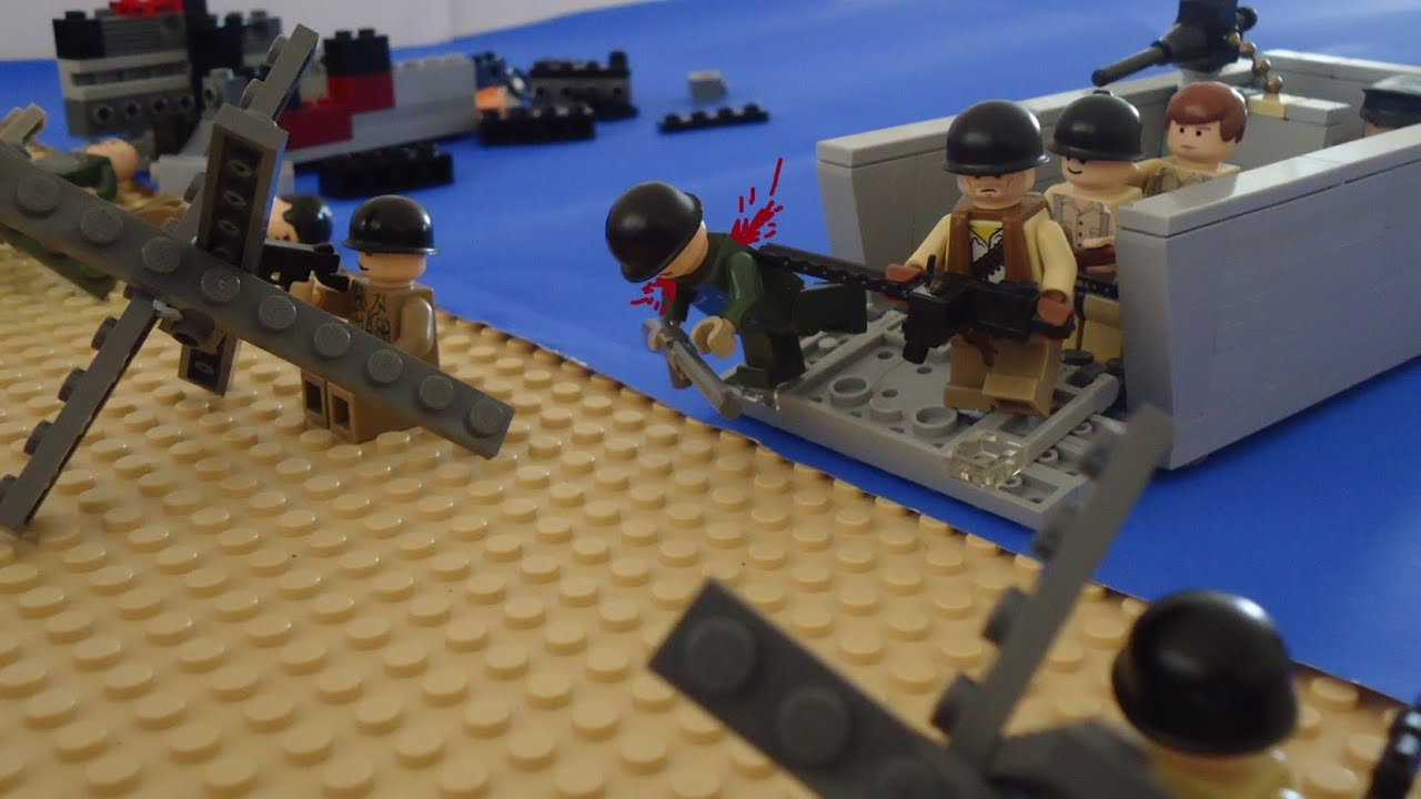 Lego D Day Omaha Beach - YouTube