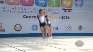 FRANCE Mixed Pair -- 2014 Aerobic Worlds, Cancun (MEX), Qualifications -- We are Gymnastics !