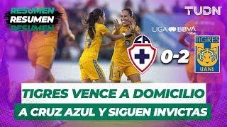 Resumen Cruz Azul 0 - 2 Tigres | Liga Mx Femenil Apertura 2019   Jornada 7 | TUDN