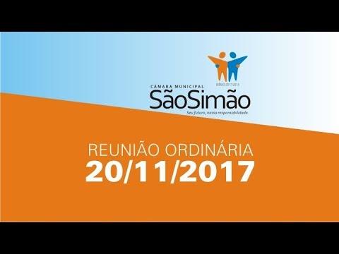 REUNIAO ORDINARIA 20/11/2017
