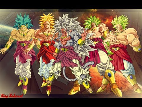 All Broly Forms And Transformations - YouTube