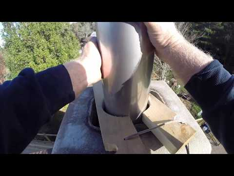 DIY Chimney Liner Replacement Part 2 - Installing Tubinox Stainless Steel Liner