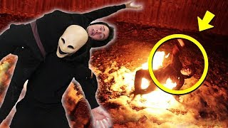 SMILEY MONSTER CONTROLLED ME AND THREW ME INTO A FIRE PIT!! (SCARY)