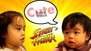 baby keyi fight cute sweetheart attack sister street fighter style crying puntch power